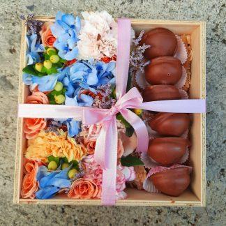 caja de flores para la mujer