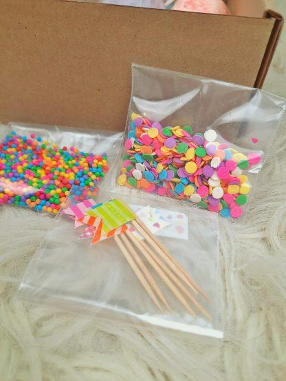 Decoración de caja de cupcakes