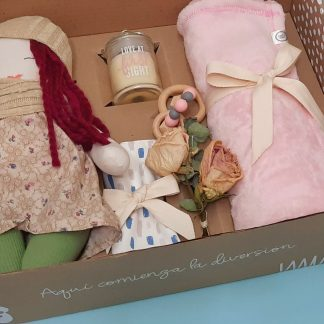 caja sorpresa bienvenida bebé